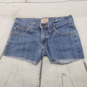 Frankie B Shorts Size 0 Womens Blue Denim Cut Offs